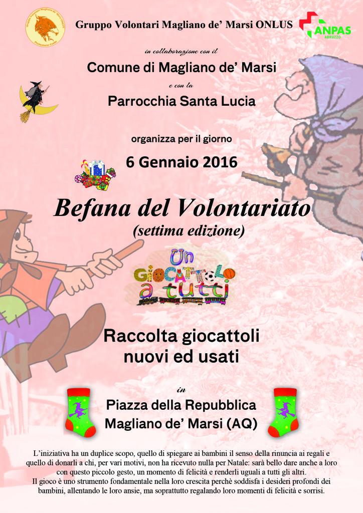 Locandina Befana 2016 (Magliano)